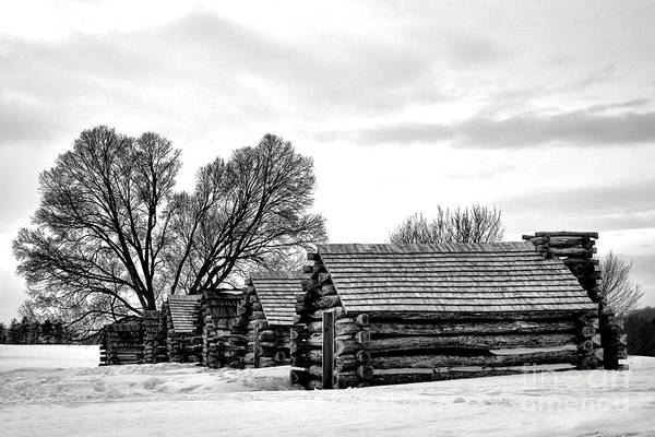 Wall Art - Photograph - Valley Forge Barracks In Winter  by Olivier Le Queinec