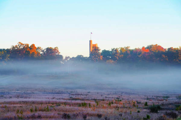 Wall Art - Photograph - Valley Forge Chapel In The Mist by Bill Cannon