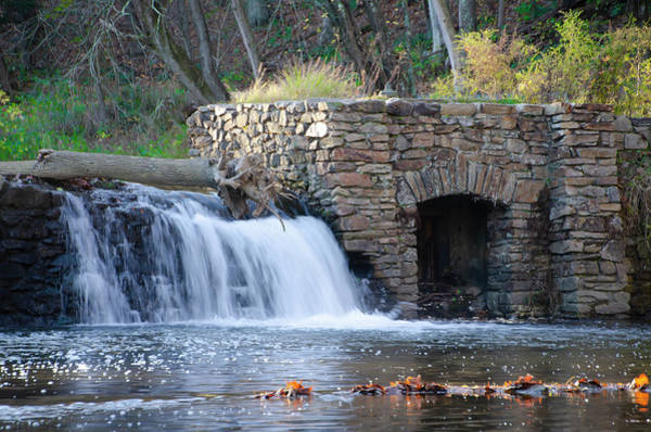 Wall Art - Photograph - Valley Forge Creek - Waterfall by Bill Cannon