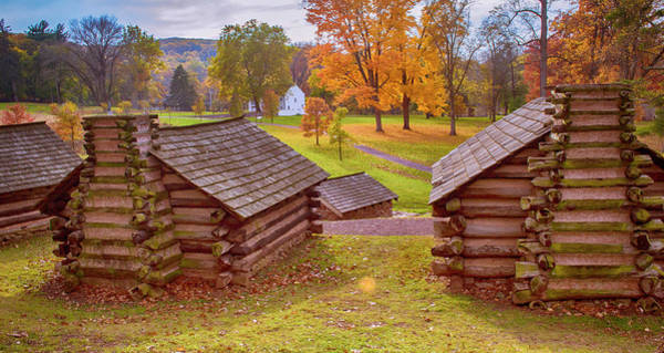 Photograph - Valley Forge Huts In Fall by Rima Biswas