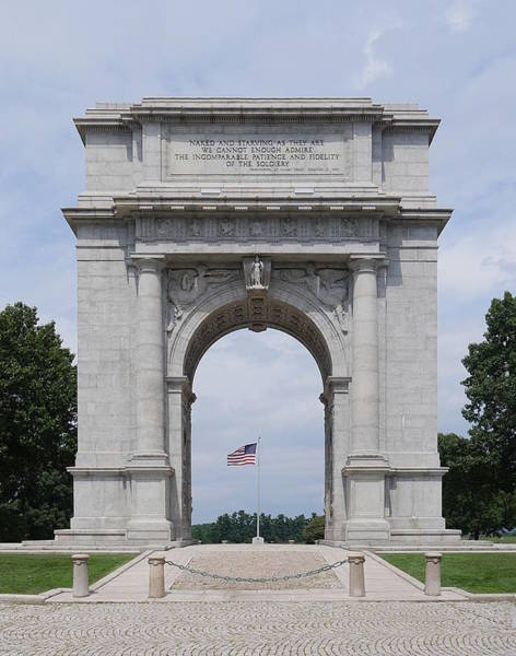Photograph - Valley Forge - National Memorial Arch by Richard Reeve
