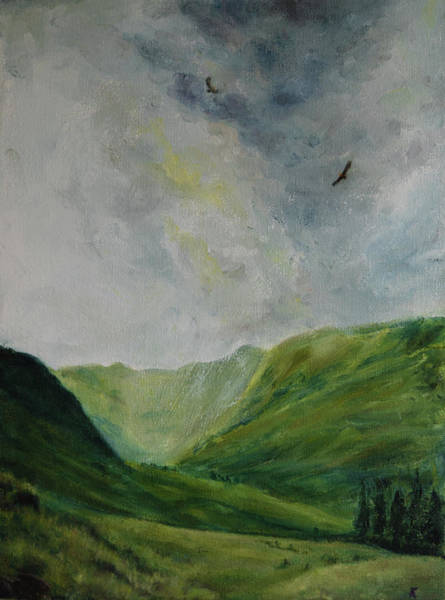 Lake District Painting - Valley Of Eagles by Kathryn Bell