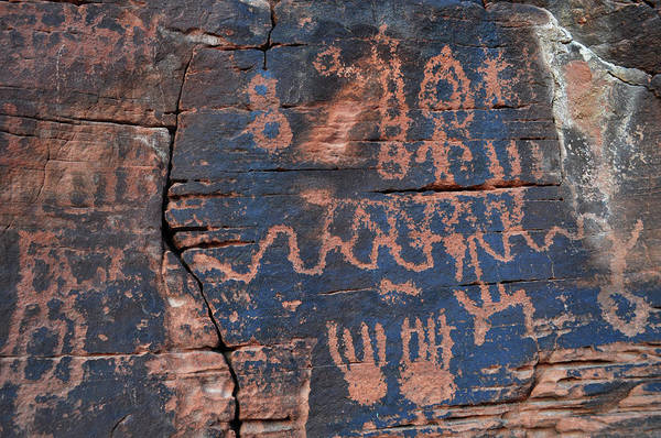 Photograph - Valley Of Fire Petroglyph Wall by Kyle Hanson