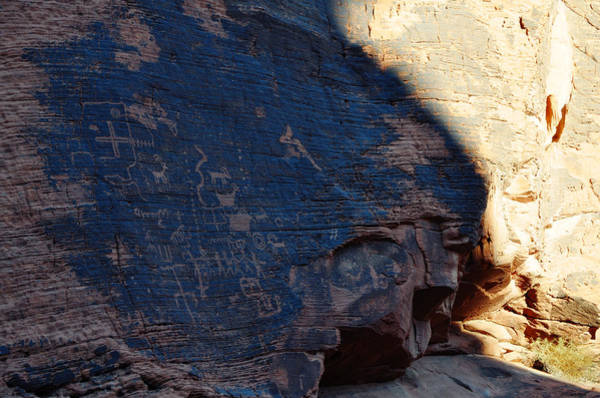 Photograph - Valley Of Fire Petroglyphs Shadow by Kyle Hanson