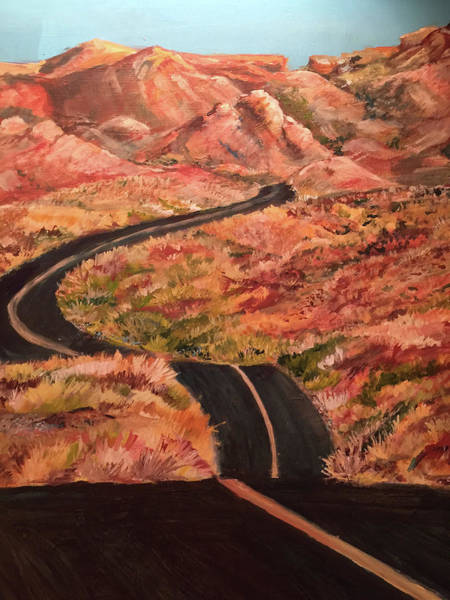 Valley Of Fire Painting - Valley Of Fire Road by Charme Curtin