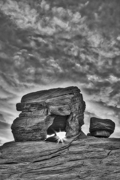 Photograph - Valley Of Fire Rock Formations Bw by Susan Candelario