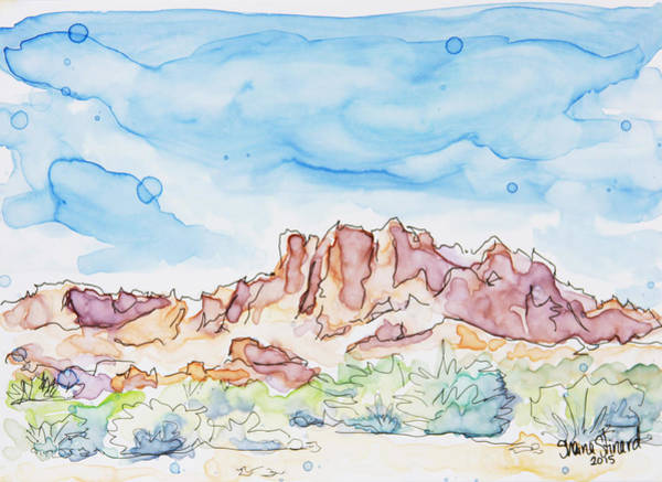 Valley Of Fire Painting - Valley Of Fire by Shaina Stinard