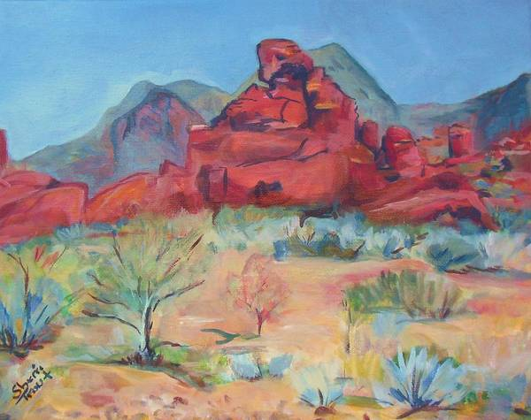 Valley Of Fire Painting - Valley Of Fire by Sherri Trout