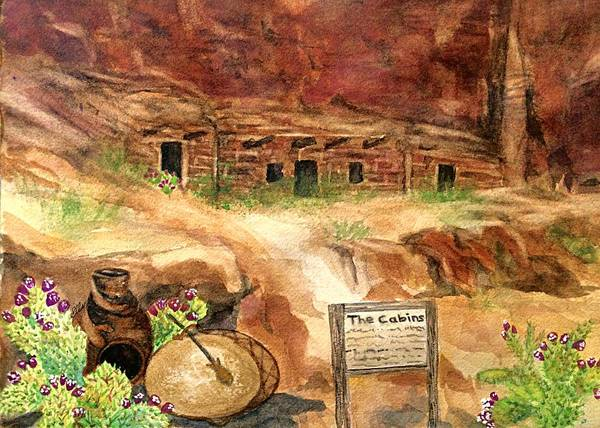 Valley Of Fire Painting - Valley Of Fire - The Cabins  by Ellen Levinson