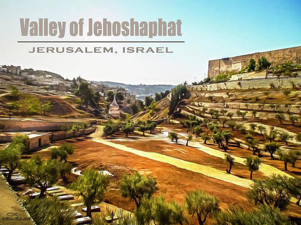 Digital Art - Valley Of Jehoshaphat, Jerusalem, Israel by Brian Tada