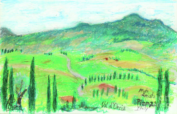 Wall Art - Pastel - Valley Of Orcia Near Pienza Italy by Adam Long
