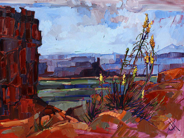 Red Rock Painting - Valley Of The Gods by Erin Hanson