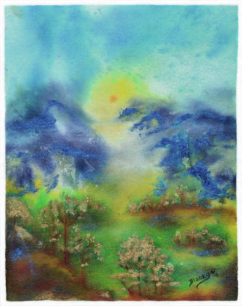 Wall Art - Painting - Valley Of The Mist by Donna Blackhall
