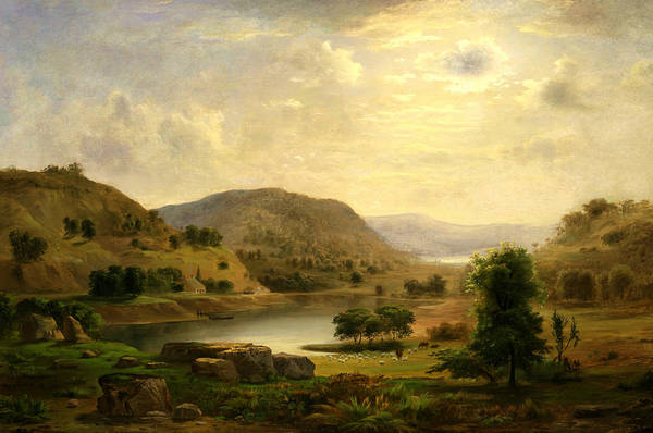 Hudson Valley Wall Art - Painting - Valley Pasture by Robert Seldon Duncanson