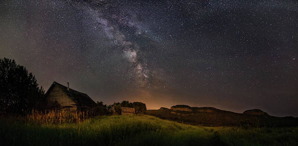 Abandonment Photograph - Valley Road Homestead Under A Milky Way by Jakub Sisak