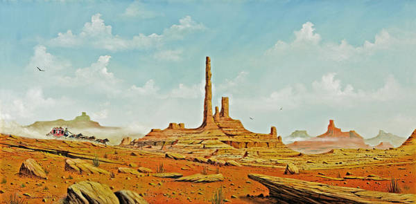 Death Valley Painting - Valley Run by Don Griffiths