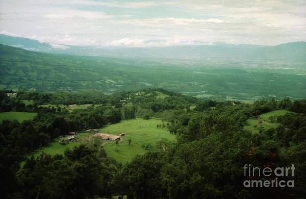 Photograph - valley view Costa Rica by Ted Pollard