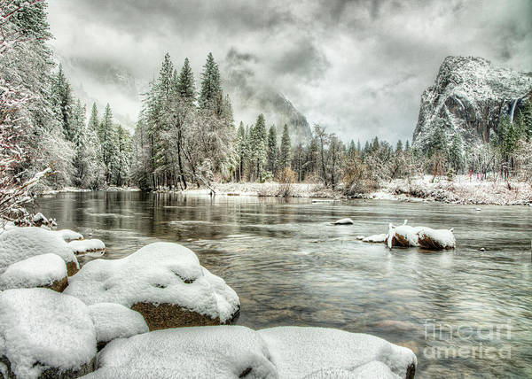 Photograph - Valley View Winter Storm Yosemite National Park by Wayne Moran