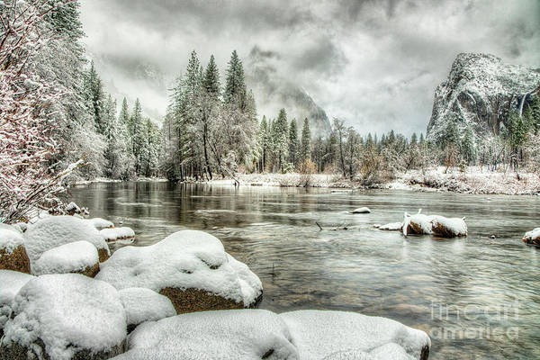Photograph - Valley View Winter Yosemite National Park by Wayne Moran