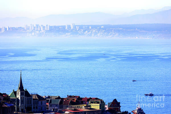 Photograph - Valparaiso Pacific Ocean View Chile by John Rizzuto