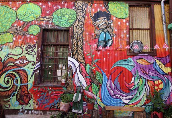 Photograph - Valparaiso Street Art 07 by Aidan Moran