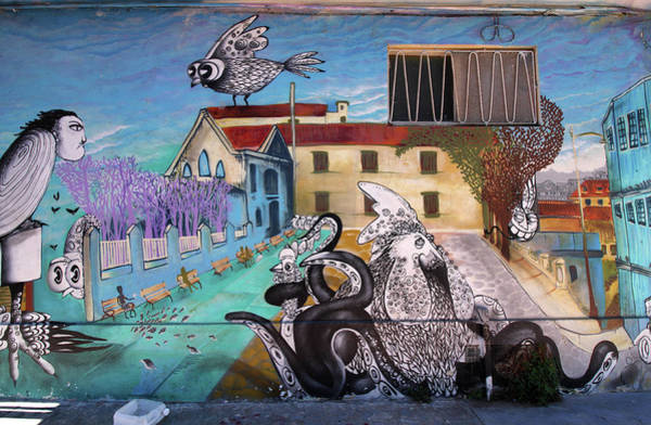 Photograph - Valparaiso Street Art 10 by Aidan Moran