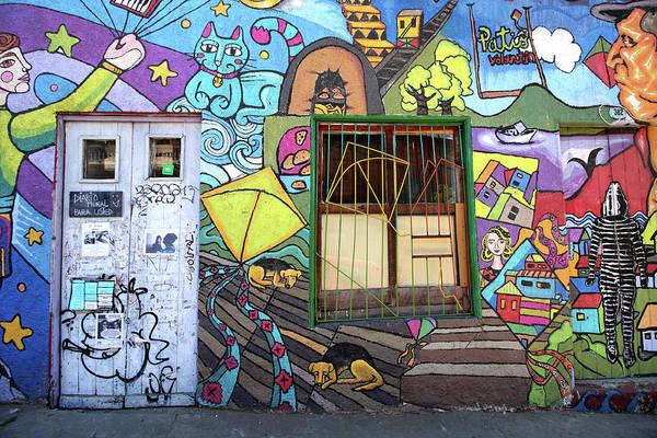 Photograph - Valparaiso Street Art 23 by Aidan Moran