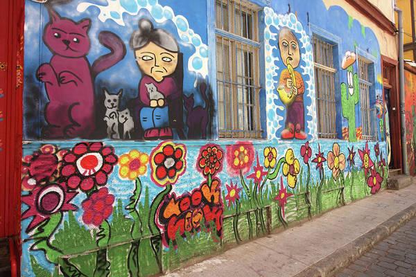 Photograph - Valparaiso Street Art 24 by Aidan Moran