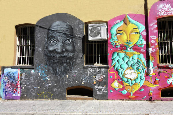 Photograph - Valparaiso Street Art 31 by Aidan Moran
