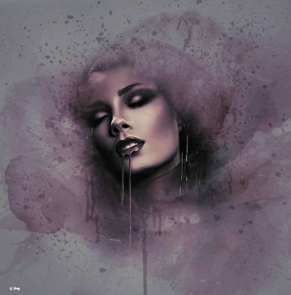 Desire Mixed Media - Vampire Kiss 02 by G Berry