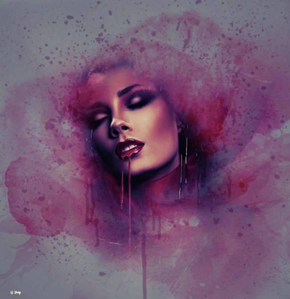 Desire Mixed Media - Vampire Kiss by G Berry