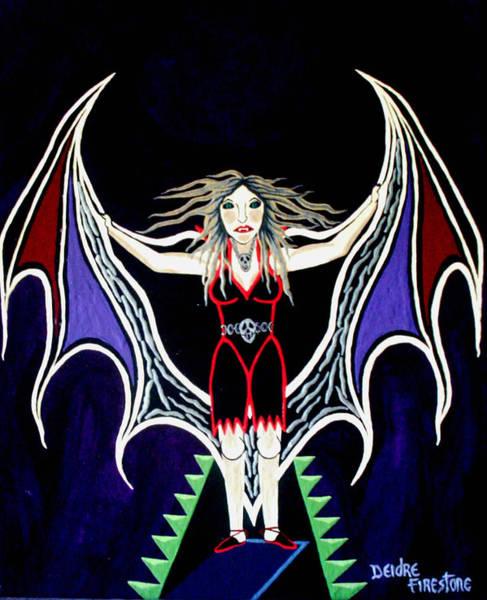 Vampire Lady Of Death Art Print by Deidre Firestone