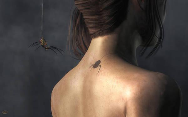 Digital Art - Vampire Spider by Daniel Eskridge