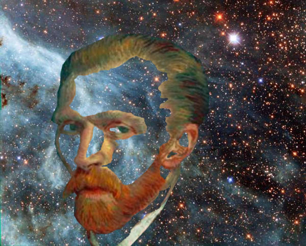 Digital Art - Van Gogh Art Study In Blue by Tristan Armstrong
