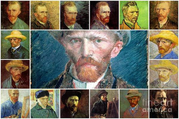Painting - van gogh Collage by Celestial Images