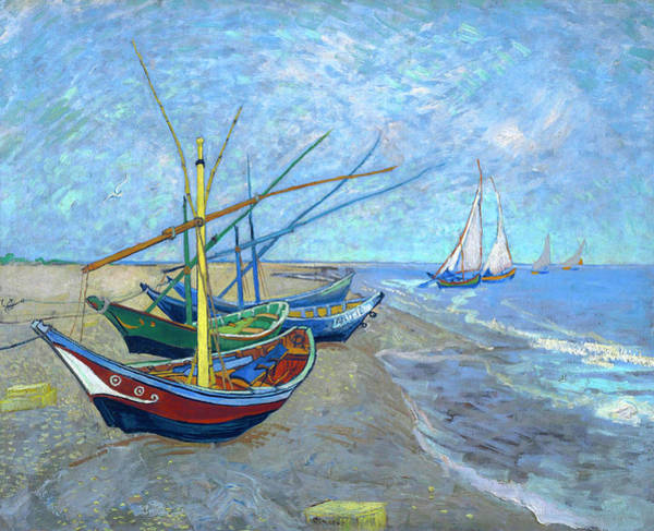 Wall Art - Painting - Van Gogh Fishing Boats Saintes Maries by Vincent Van Gogh