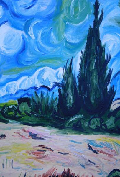Wall Art - Painting - Van Gogh IIi by Mikayla Ziegler