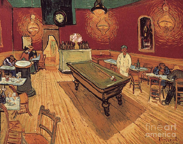 Painting - Van Gogh Night Cafe 1888 by Granger
