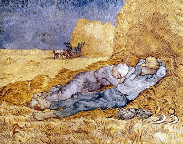 Nap Wall Art - Photograph - Van Gogh: Noon Nap, 1889-90 by Granger