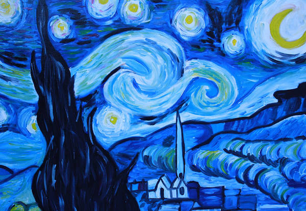 Wall Art - Painting - Van Gogh Replica II by Mikayla Ziegler
