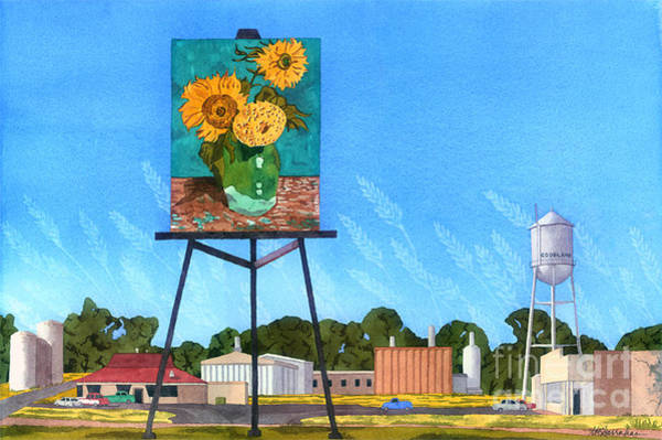 Wall Art - Painting - Van Gogh Soars Over The Plains by Annette McGarrahan