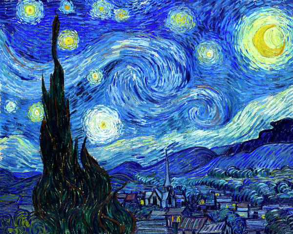Wall Art - Painting - Van Gogh Starry Night by Vincent Van Gogh
