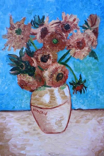 Wall Art - Painting - Van Gogh Sunflowers I by Mikayla Ziegler