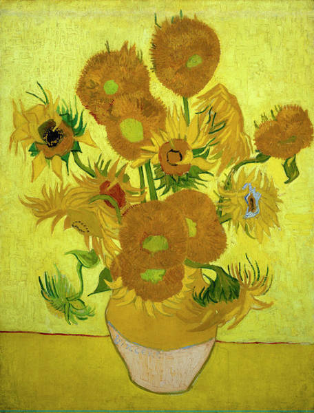 Wall Art - Painting - Van Gogh Sunflowers by Vincent Van Gogh
