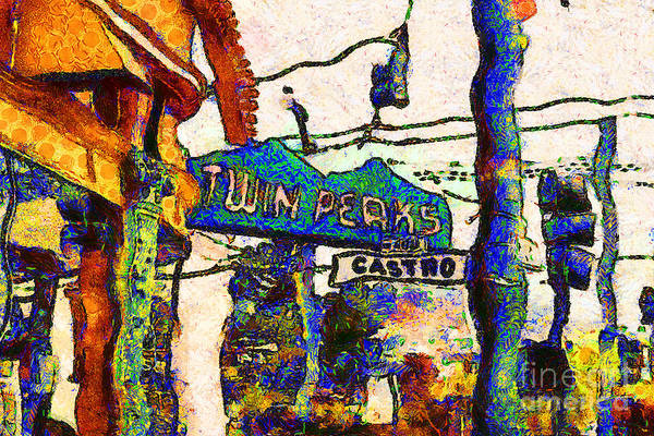 Photograph - Van Gogh Takes A Wrong Turn And Discovers The Castro In San Francisco . 7d7547 by Wingsdomain Art and Photography
