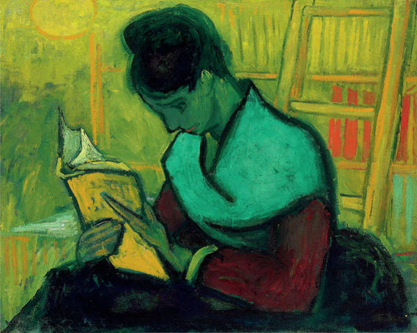 Wall Art - Painting - Van Gogh The Novel Reader by Vincent Van Gogh