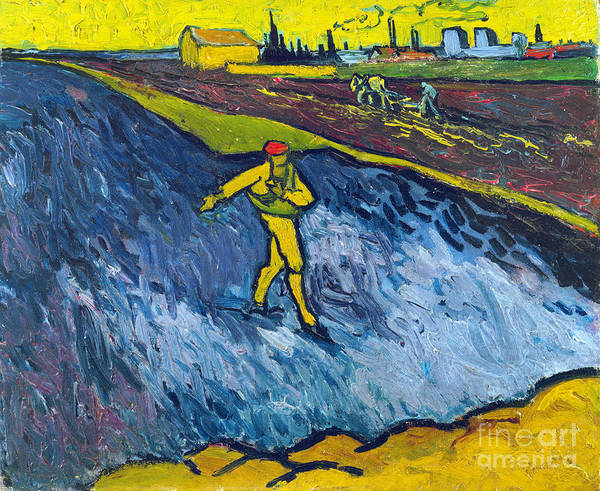 Photograph - Van Gogh: The Sower, C1888 by Granger