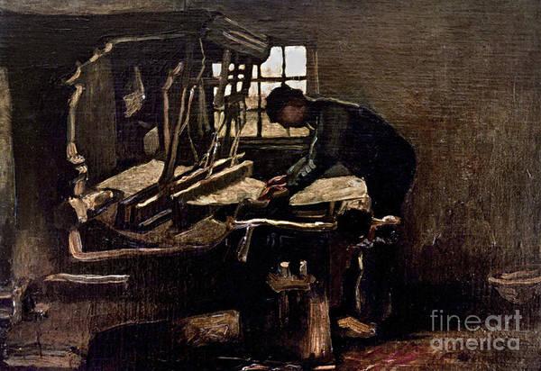 Wall Art - Photograph - Van Gogh: Weaver, 1884 by Granger
