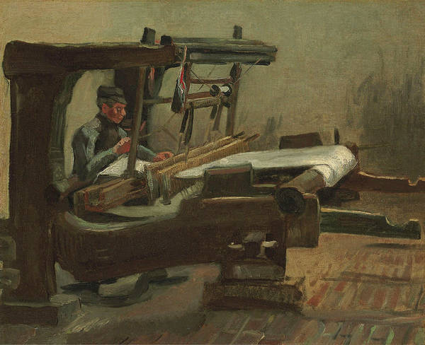 Wall Art - Painting - Van Gogh Weaver Facing Right by Vincent Van Gogh