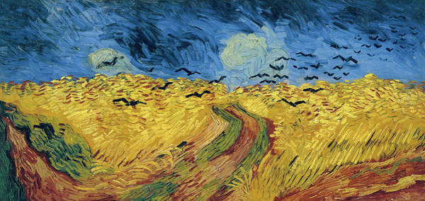 Wall Art - Painting - Van Gogh Wheatfield With Crows by Vincent Van Gogh